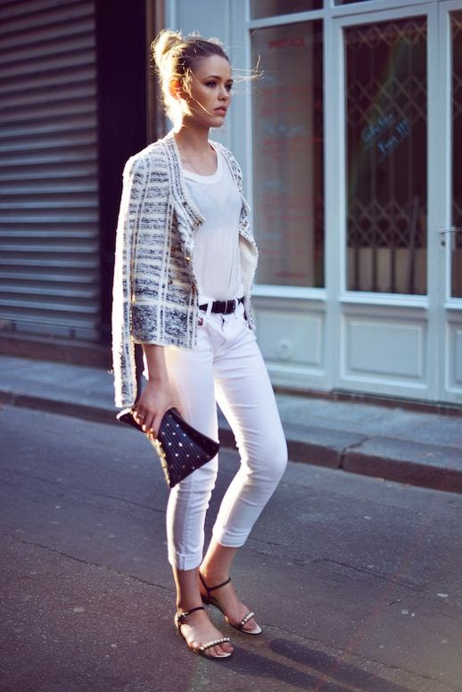 17 Le Fashion Blog 30 Fresh Ways To Wear White Jeans Tweed Jacket Tee Pearl Sandals Via Kayture photo 17-Le-Fashion-Blog-30-Fresh-Ways-To-Wear-White-Jeans-Tweed-Jacket-Tee-Pearl-Sandals-Via-Kayture.jpg