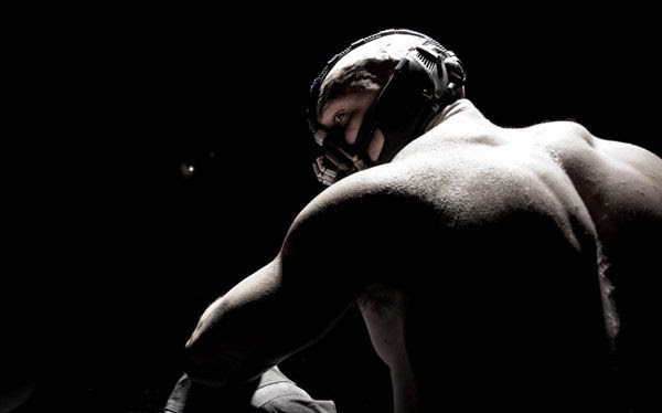 Tom Hardy as Bane, in THE DARK KNIGHT RISES.