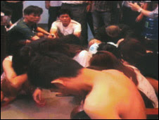 Các nghi phạm khi bị bắt (ảnh của cơ quan công an)