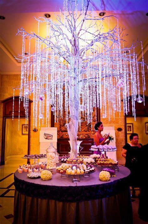 Arbol de cristales para mesa de postres/crystal tree for