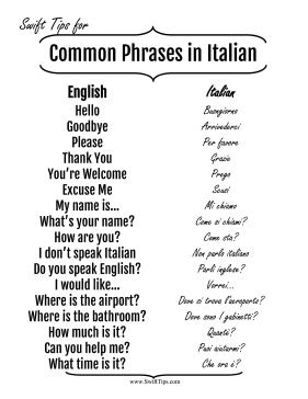 Famous Italian Quotes Translated In English