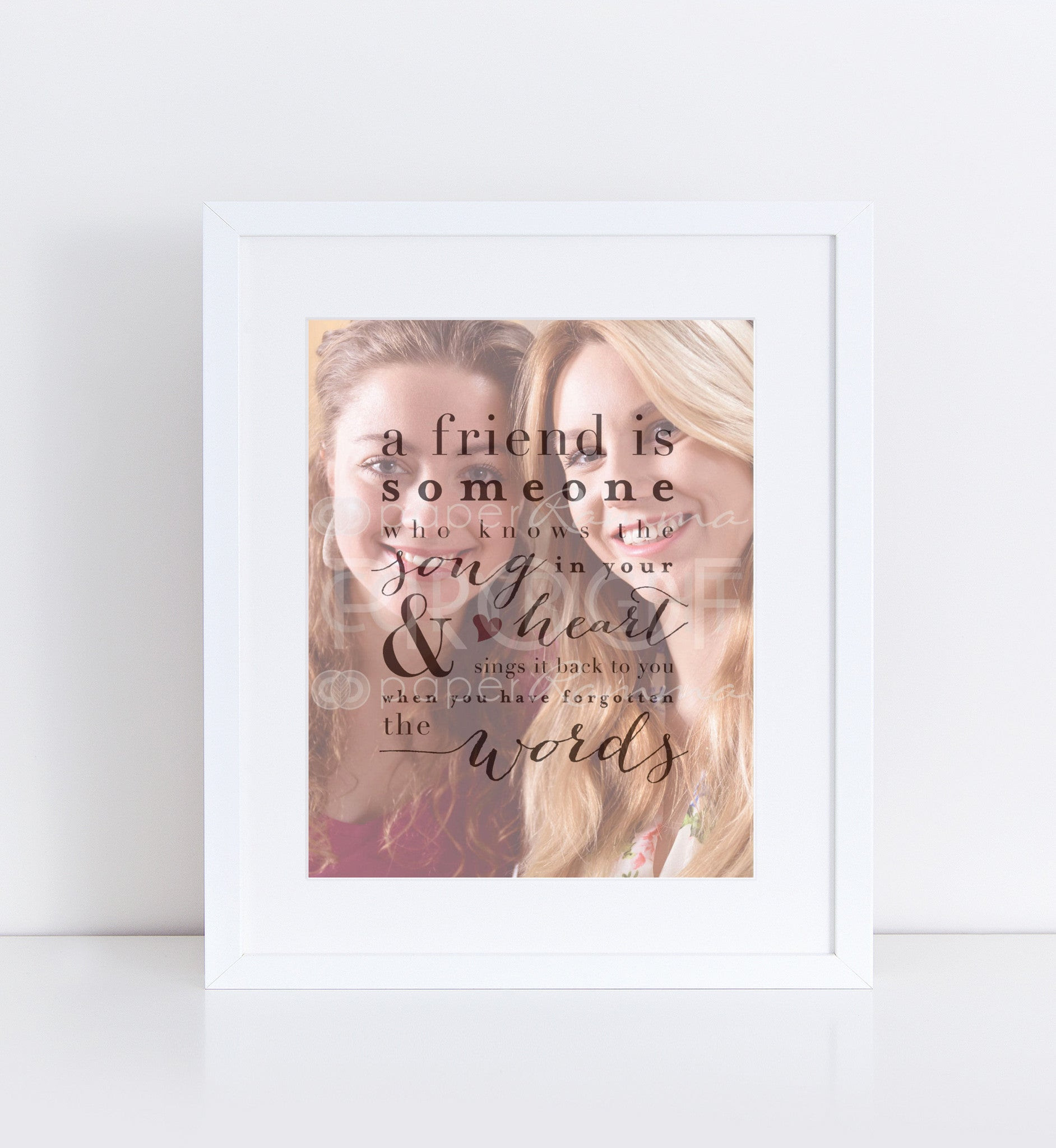 Song In Your Heart Personalized Photo Quote 76thandnewbury