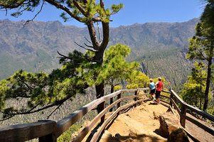 Ausblick von La Cumbrecita in die Weiten der Caldera de Taburiente
