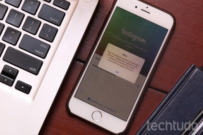 Erro temporário no Instagram impede usuários de acessar o aplicativo (Foto: Lucas Mendes/TechTudo)