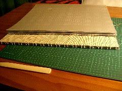 Halfway through the coptic binding