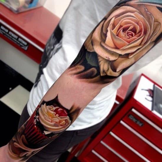 Desenhos de tatuagem rosa para homens