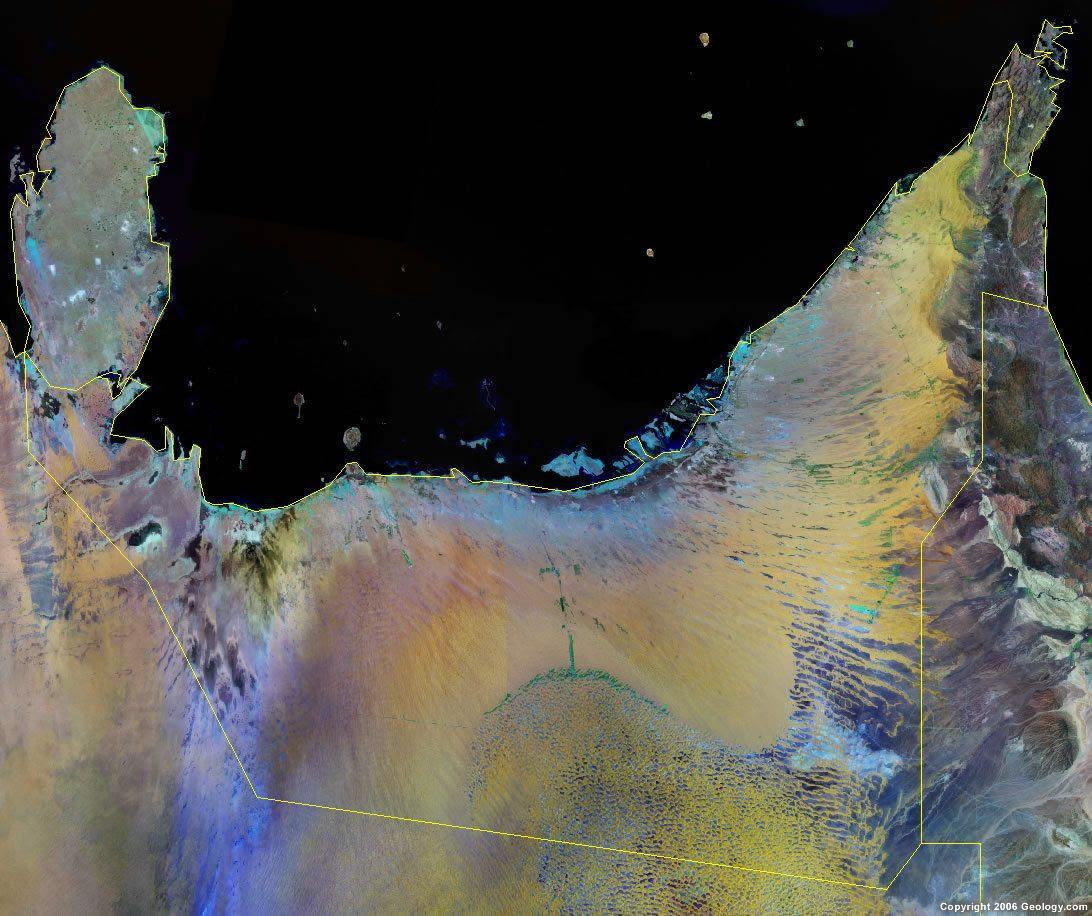 United Arab Emirates Map And Satellite Image
