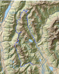 Five Passes Route Map