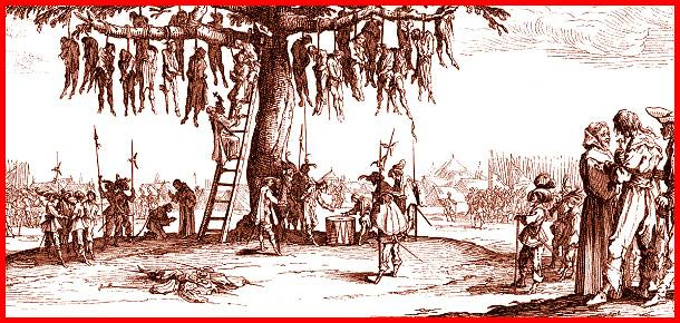 Risultati immagini per impiccagione medioevo