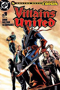 The Society's council. Cover to Villains Unite...