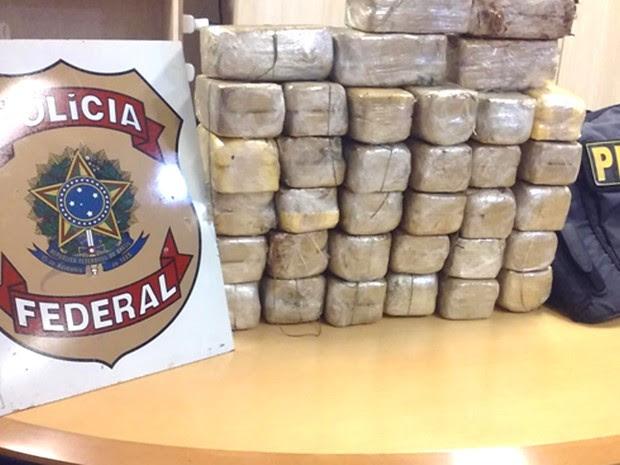 100 kg de cocaína foram apreendidos com apoio da PRF (Foto: Divulgação/Polícia Federal)