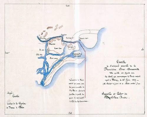 Bản đồ phân định vịnh Bác Việt