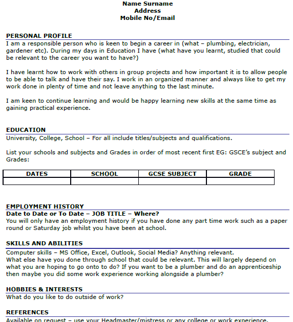 application letter sample  cover letter template 16 year olds