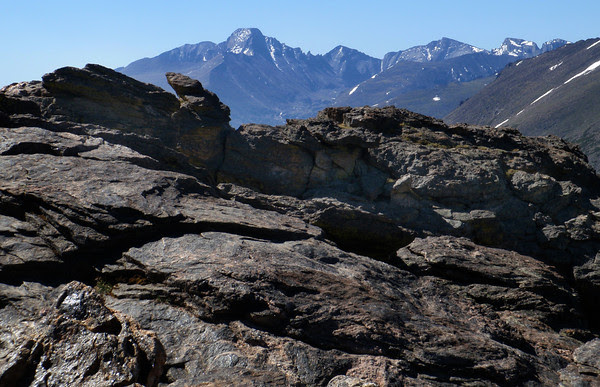 Longs Peak from Rock Cut