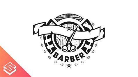 barber logo design time lapse  inkscape youtube