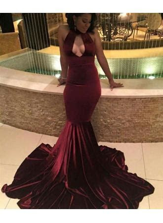 Prom Velvet Dresses Burgundy Prom Dress 2019 Sexy Mermaid