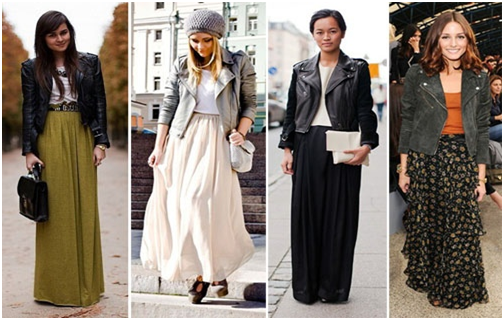 Celebrities Wearing Fall Maxi Skirts