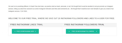 Free Instagram Followers And Likes Trial Sites 20 30 50 100
