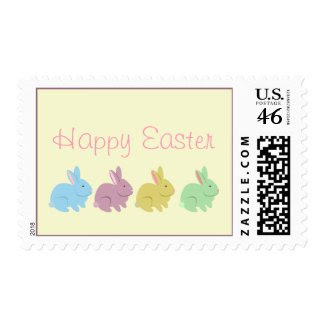 Four Rabbits Easter Postage stamp