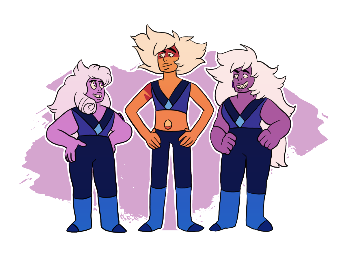 Daily reminder that Skinny is canonically almost a full head taller than all the Amethysts. Let my daughter be tall