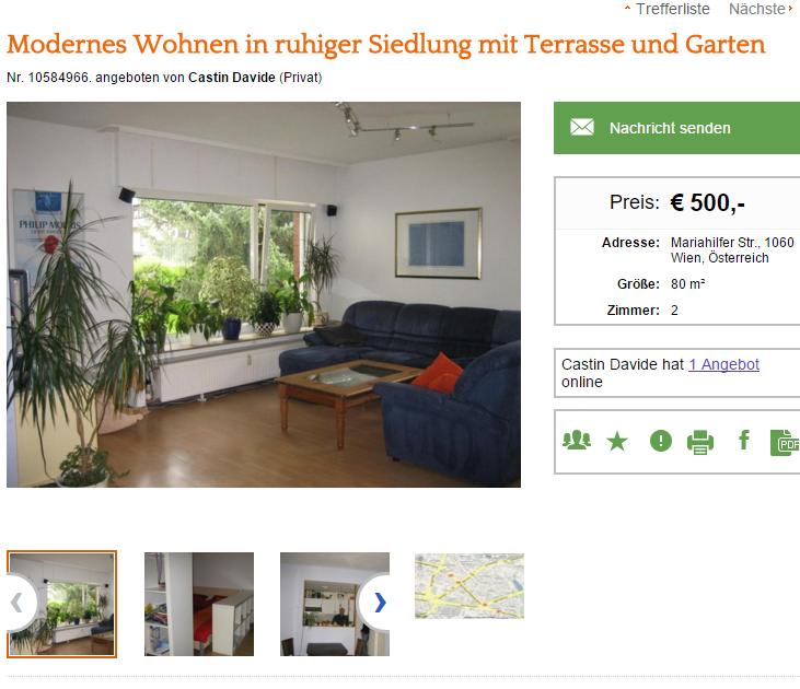 cas modernes wohnen in ruhiger siedlung mit. Black Bedroom Furniture Sets. Home Design Ideas