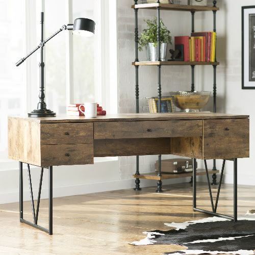 Industrial Style Desk : $234.99 + Free S\/H  MyBargainBuddy.com
