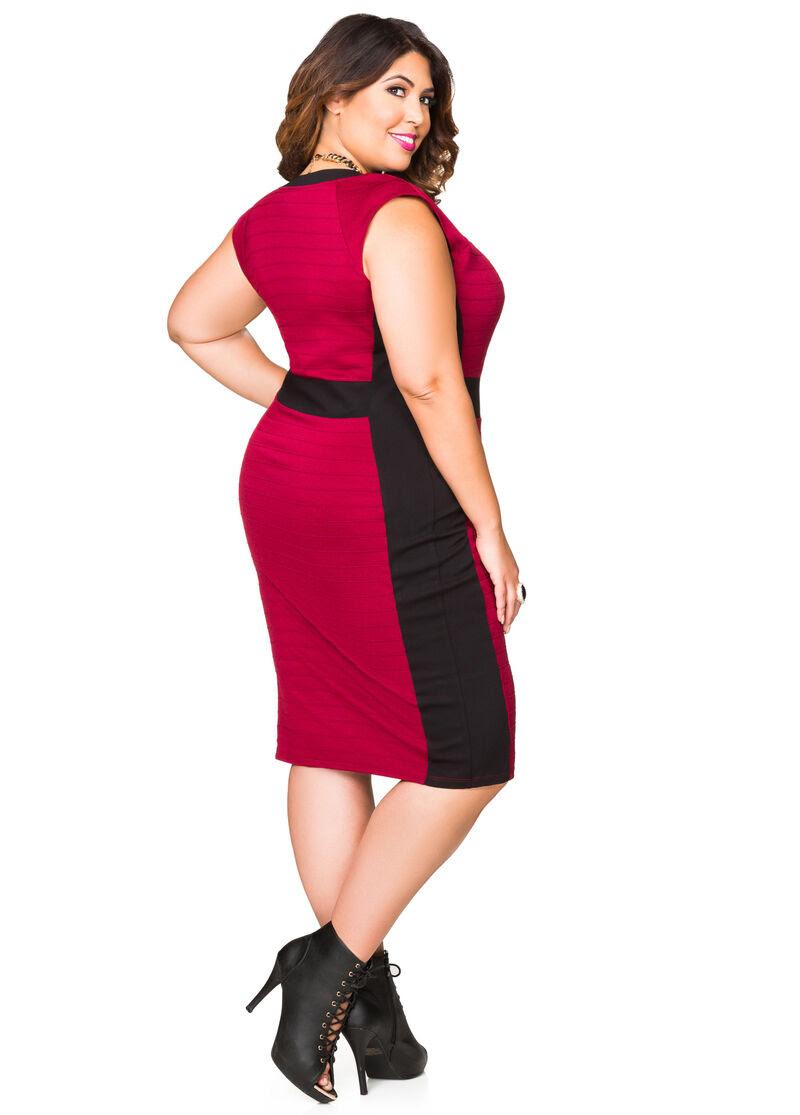 Black size dresses long zip plus bodycon tights wallis