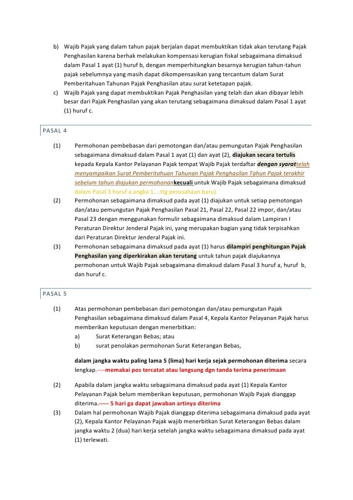 Contoh Surat Pernyataan Pajak Minatoh