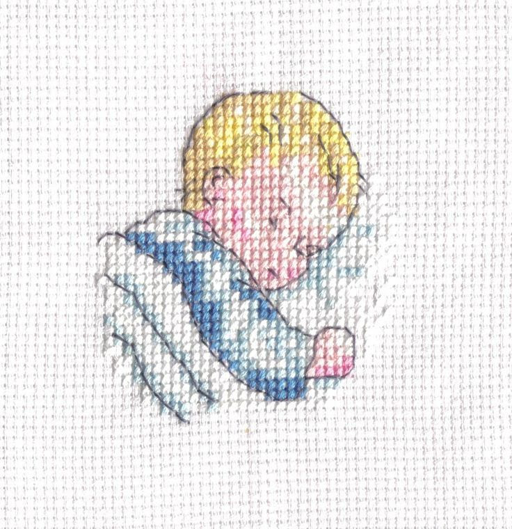 cross stitch angel over sleeping baby | Friday, March 16, 2012