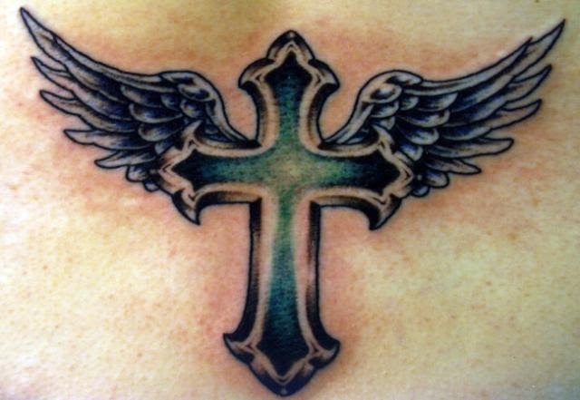 Cross With Wings Tattoo Design In 2017 Real Photo Pictures Images