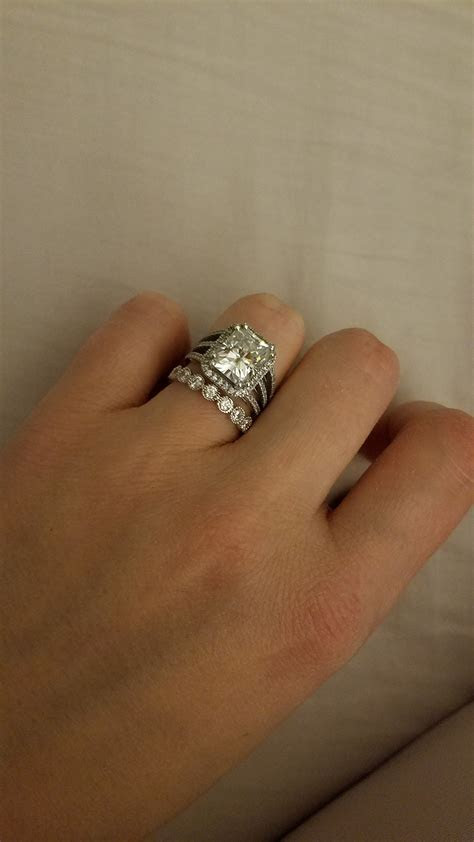 Engagement ring   wedding band (cheap model for future
