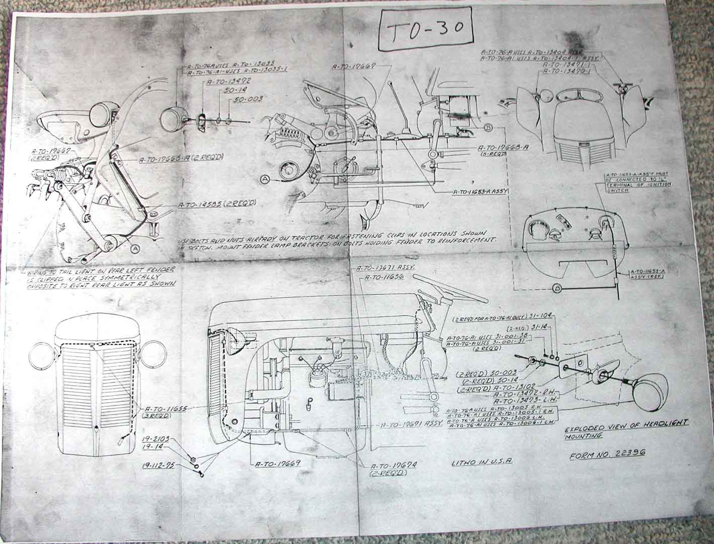 Electrical And Lighting Diagrams Ferguson Enthusiasts Of North America