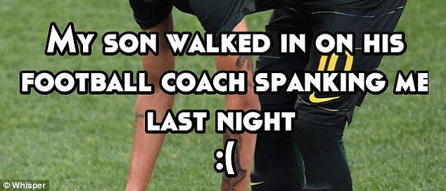 Another parent admitted that her son walked in on his football coach spanking her (Stock image)
