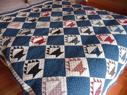 Antique basket quilt ca1880s