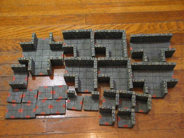 Dwarven Forge filled in bow-tie sockets
