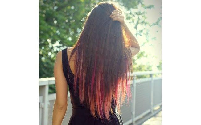 Variações da mesma cor para um cabelo muito estiloso