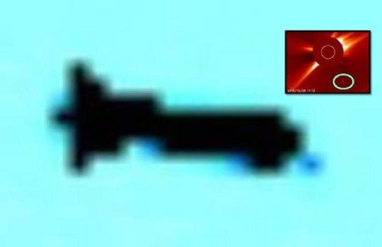 Objeto inusualmente enorme descubierto cerca del sol - Anomalías OVNIs OVNIs en el espacio UFOs