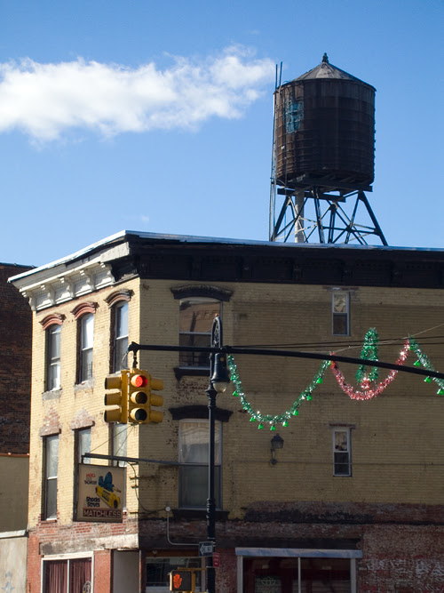 water tower above Matchless, Greenpoint, Brooklyn