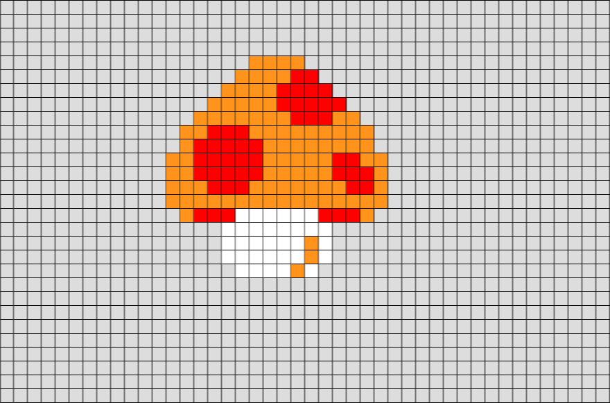 Mushroom Mario Pixel Art - BRIK