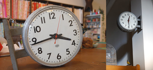 Two-sided School House Clock