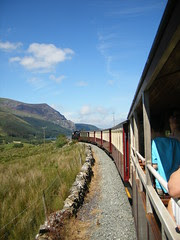 View from the train on the Welsh Highland