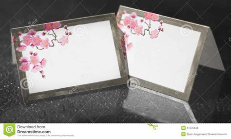 Wedding Reception Table Place Cards Stock Photo   Image of
