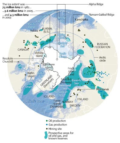 Whoever controls this region, will ultimately control the world's economy. This map also demonstrates, from a military perspective why Russia is obsessed with occupying the North Pole,