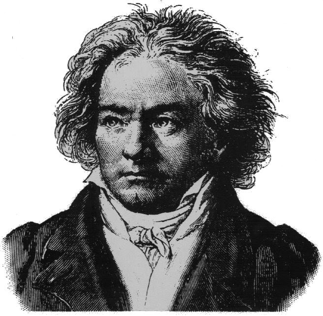 LUDWIG VAN BEETHOVEN 1770-1827  majalah usang