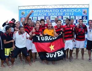 Flamengo Futebol de areia campeão Sub-23 (Foto: Divulgação)