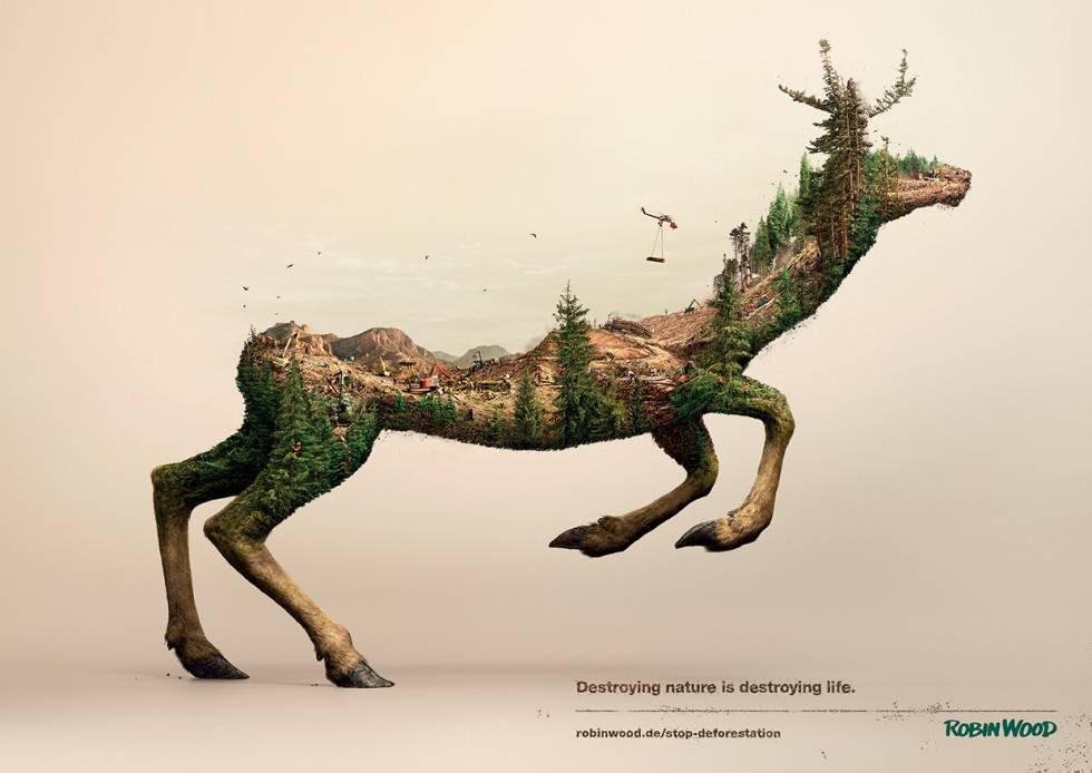 Ilustración de la campaña de la Ong Robin Wood.