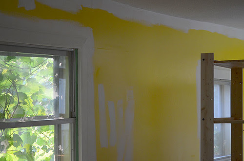 Before kitchen yellow