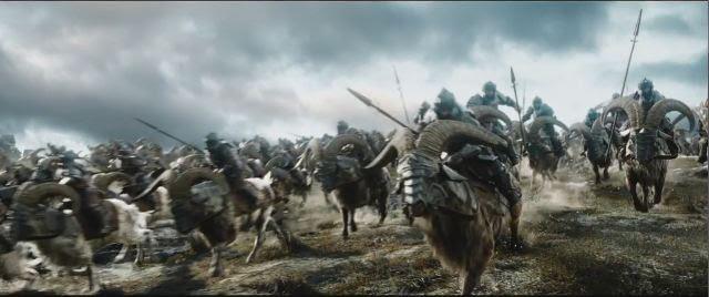 War goats The Battle of the Five Armies The Hobbit