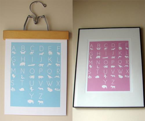 Freebie Alert : Kind Over Matter ABC Birthday Prints! - framed