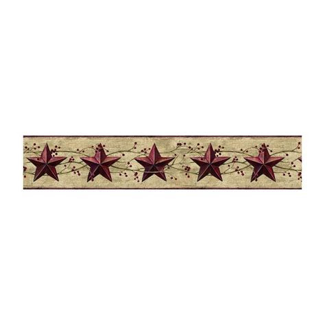 jlb berries country tin dark red stars wallpaper
